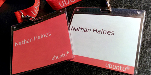 Ubuntu name badges by Nathan Haines