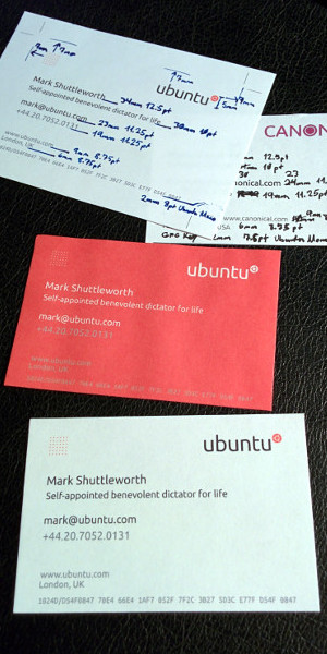 Ubuntu business cards by Nathan Haines